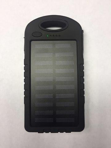 Power Bank Зарядное устройство на солнечных батареях 8000ma  диодный фонарь