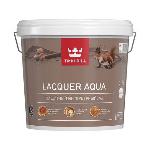 Tikkurila Laquer Aqua / Тиккурила Лак Аква водоразбавляемый колеруемый  лак, полуглянцевый