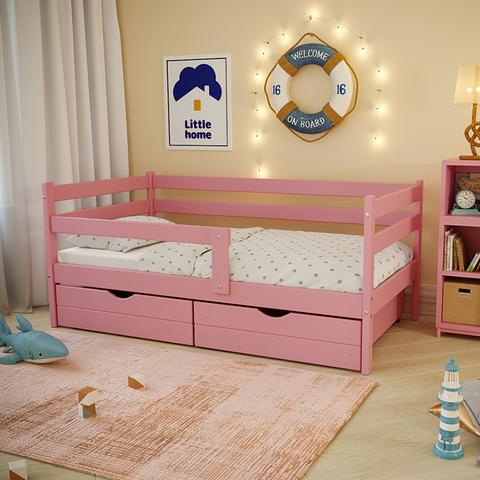 Ящики (комплект 2 шт) для кровати Софа 180х90 фасад розовый