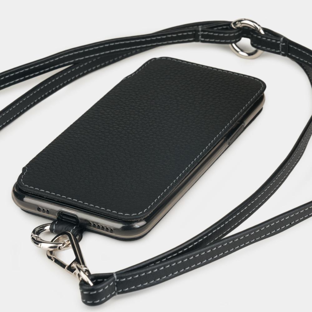 Чехол Marcel для iPhone 11 Pro из натуральной кожи теленка, цвета черный мат