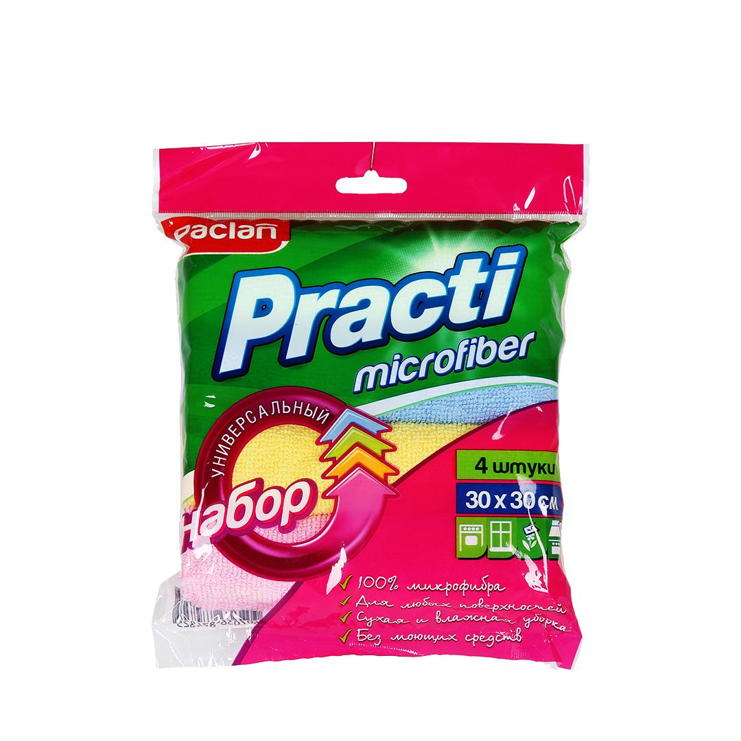 Paclan  Microfiber Набор универсальных салфеток 30*30 см 4 шт
