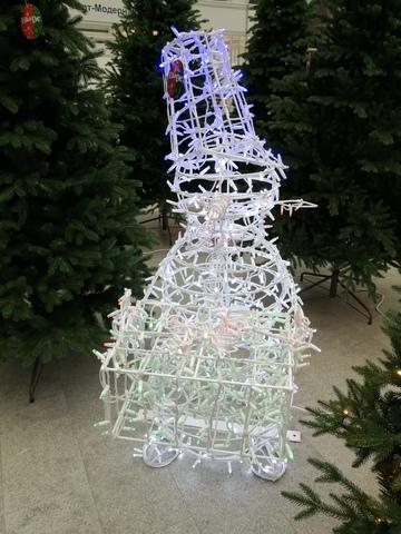 Световая фигура снеговик