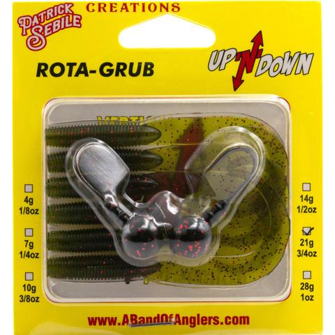 Приманка сдвоенная для вертикального блеснения A Band Of Anglers UpNDown Rota-Grub 21 г. Watermelon R