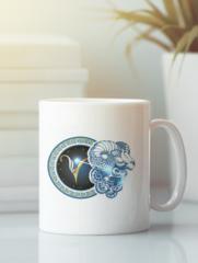 Кружка с изображением Знаки Зодиака, Овен (Гороскоп, horoscope) белая 001