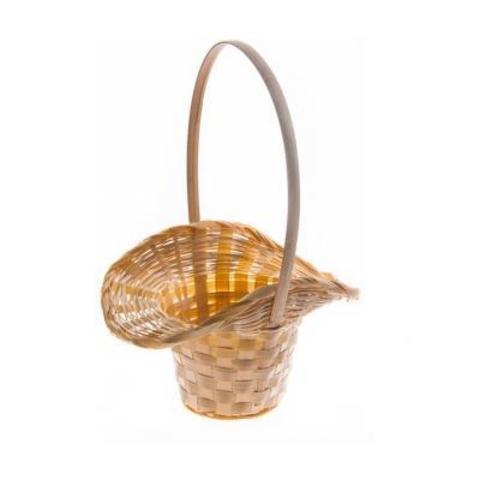 Корзина плетеная Шляпа (бамбук), D9x14/10xH30см, натуральный
