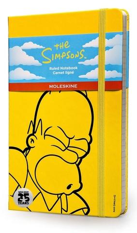 Записная желтая книжка Moleskine The Simpsons