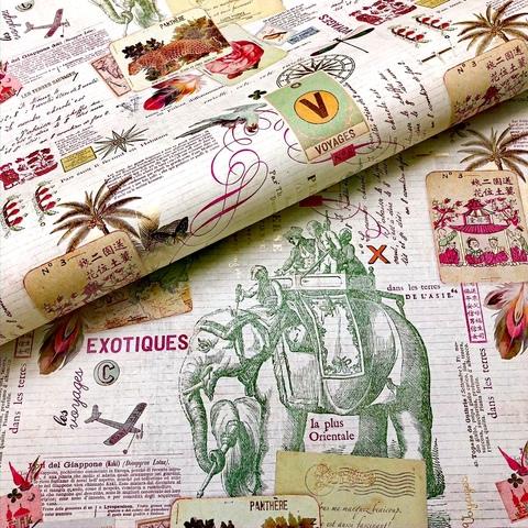 Бумага подарочная декоративная Экзотическое путешествие