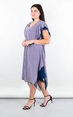 Нівея. Літня сукня для великих розмірів. Пудра.