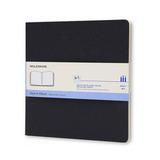 Блокнот для рисования Moleskine Cahier Large Plus 190x190мм обложка картон 88 стр черный (ARTSKA5)