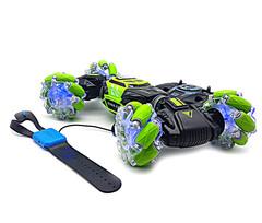 Машинка-перевертыш Skidding Stunt Car с управлением жестами зеленая