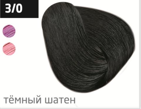 OLLIN color 3/0 темный шатен 60мл перманентная крем-краска для волос