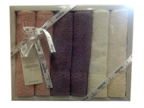 Набор махровых салфеток NATURAL НАТУРАЛ   32х50  Maison Dor (Турция)