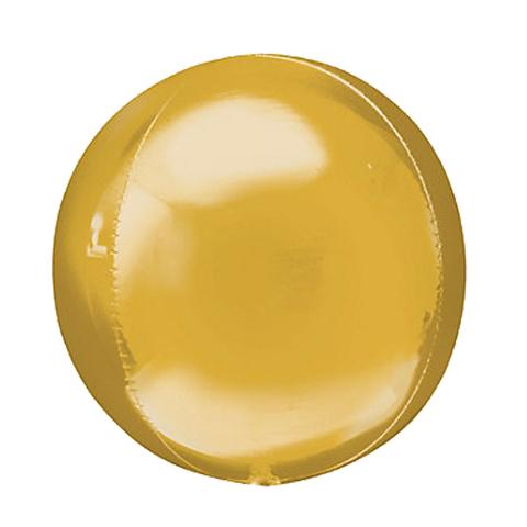 Шар-сфера 3D металлик золото, 51 см