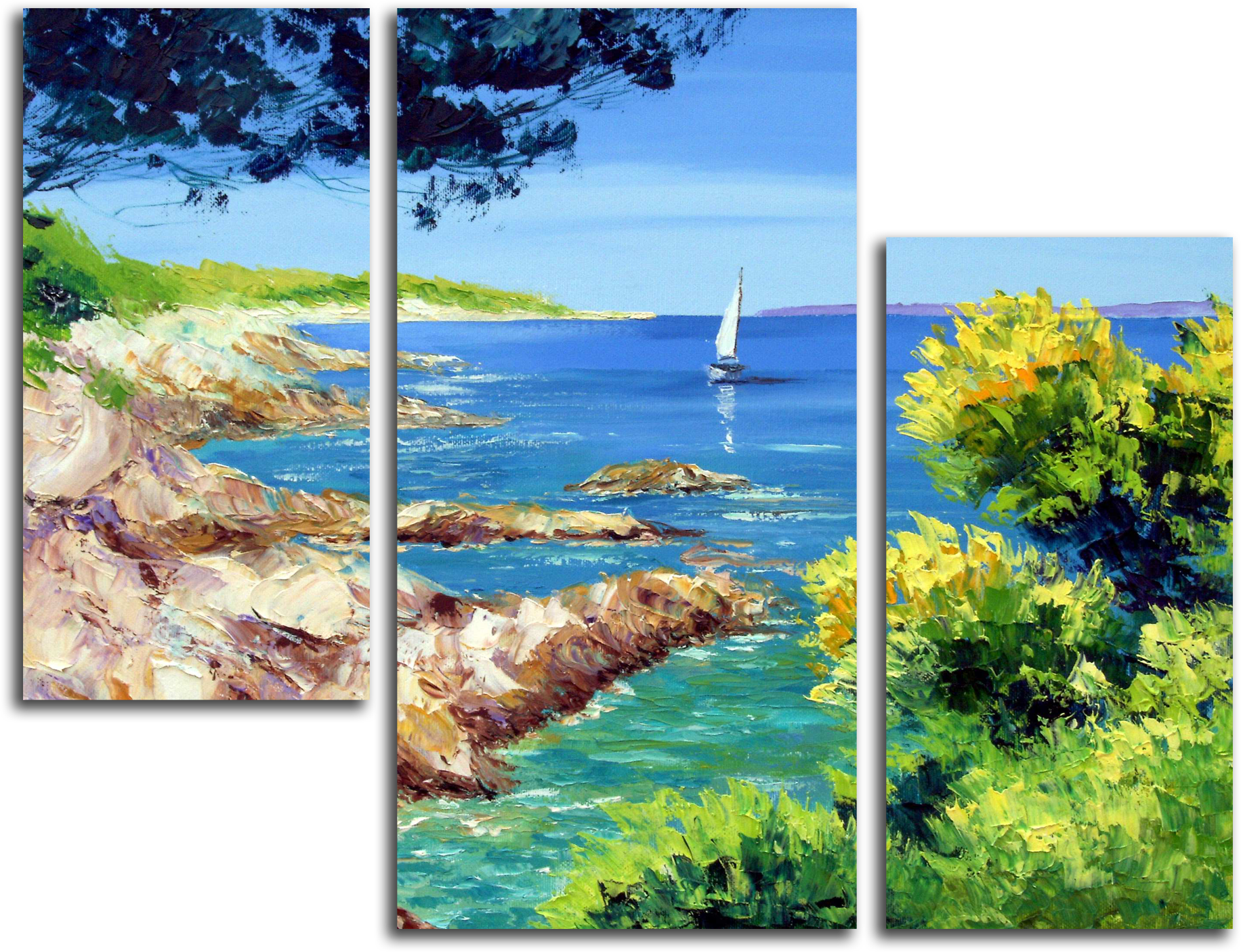 """Природа Модульная картина """"Морской пейзаж"""" М210.png"""