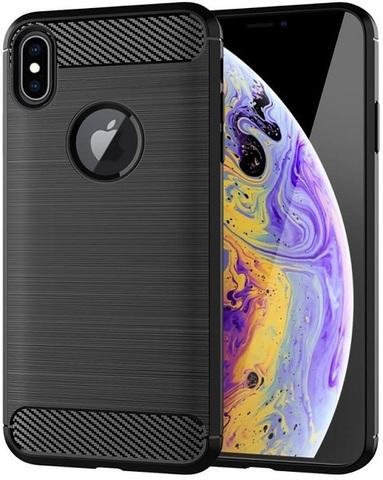 Чехол для iPhone XS цвет Black (черный), серия Carbon от Caseport