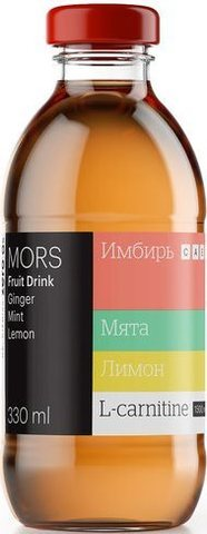 Mr.Djemius Морс с L-карнитином Имбирно-лимонный с мятой 330мл.