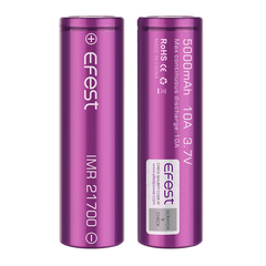 Аккумулятор 21700 Efest Li-Mn 3.7V, 5000mAh, 10A