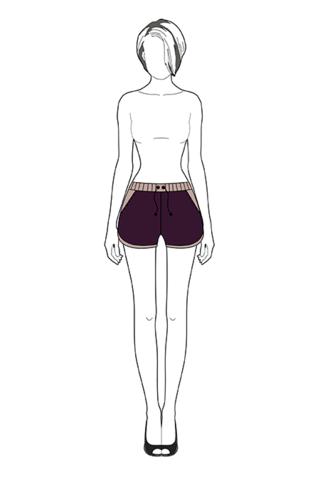 Выкройка шорт женских