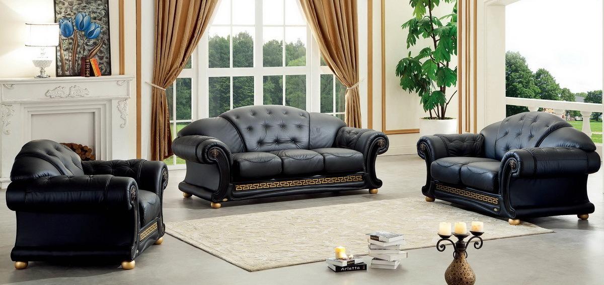 Комплект мягкой мебели  Versace черный