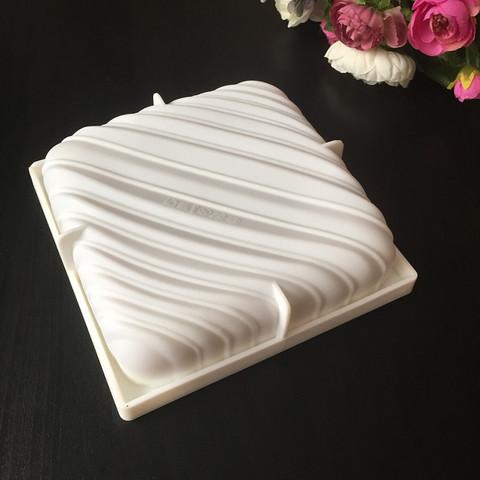 Силиконовая форма для выпечки Подушка с волнами POP