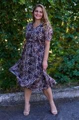 Віра. Нарядна сукня plus size. Леопард.