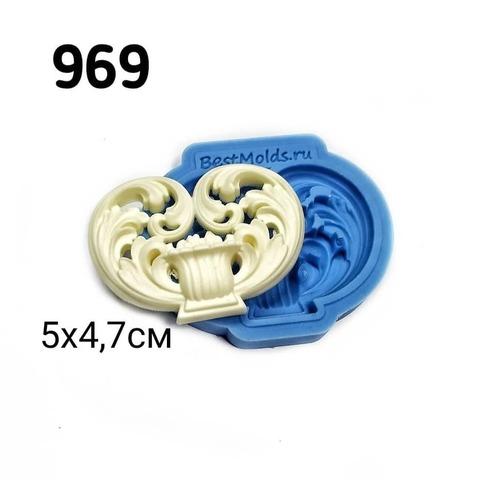 0969 Молд силиконовый. Орнамент.