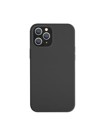 Чехол Uniq LINO для iPhone 12/12 Pro | PU антимикробное покрытие черный микрофибра