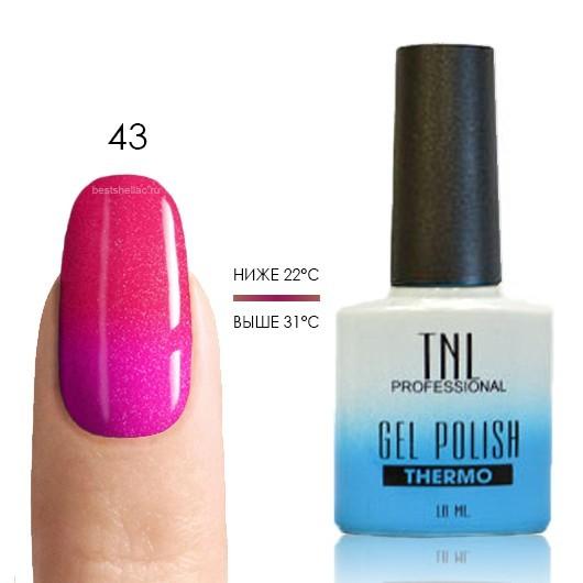 Термо TNL, Термо гель-лак № 43 -карамельно-розовый/мандариновый (с микроблёстками), 10 мл 43.jpg