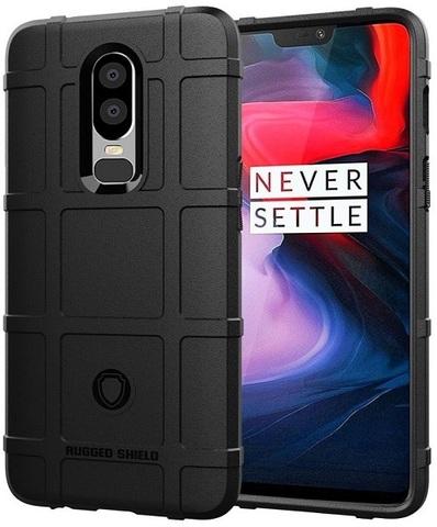 Чехол для OnePlus 6 цвет Black (черный), серия Armor от Caseport