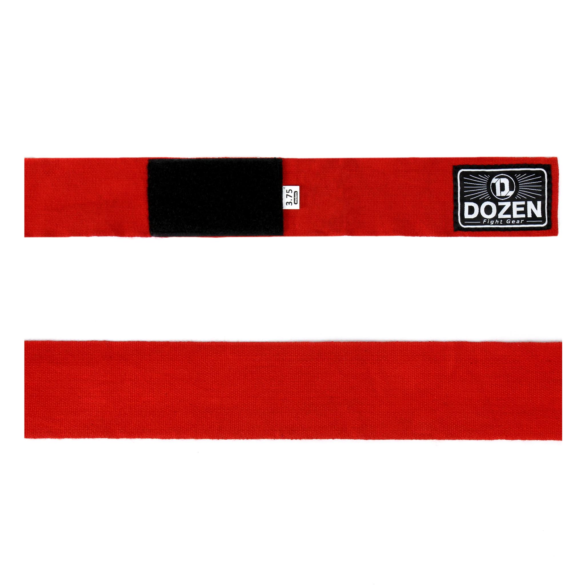 Бинты красные Dozen Monochrome Ultra-elastic вид ленты
