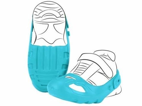 Защита обуви для катания на беговеле и машинах-каталках, голубая