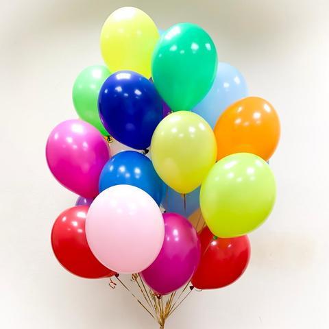 Воздушные шары с гелием разноцветные ассорти