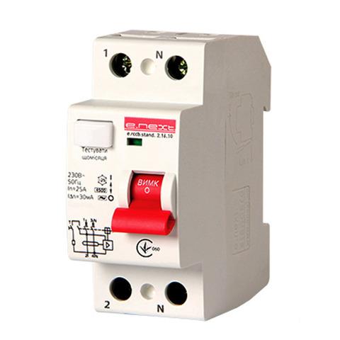 Выключатель дифференциального тока Enext stand.2.25.30 2р 25А 30mA