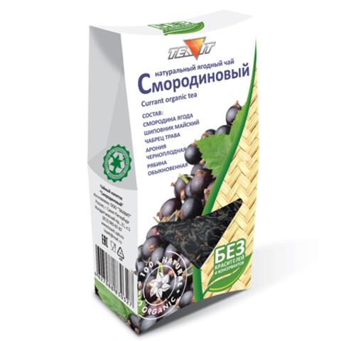 Чай напиток Смородиновый, 50 гр. (Тиавит)
