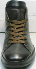 Мужские высокие кеды коричневые ботинки на шнуровке Ikoc 1770-5 B-Brown.