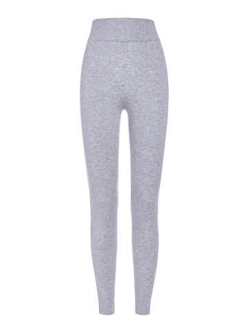 Женские брюки цвета серый меланж из вискозы - фото 2