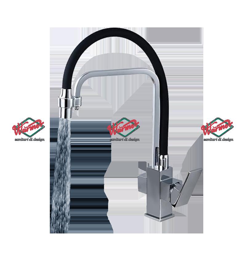 Смесители для раковины Смеситель для кухни с фильтром Warmer Brushed Chrome Line KPV-0219 KPV-0246-_2_.png