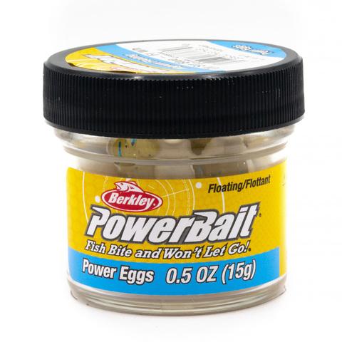 Приманка силиконовая Berkley Powerbait Floating Eggs White (1313107) Имитация икры плавающая