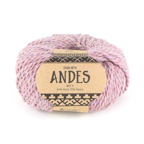 Пряжа Drops Andes 4276 розовый туман