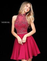 Sherri Hill 51276 Нежное, романтичное, летящее короткое платье