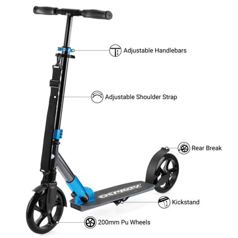 самокат Osprey Big Wheel Scooter Blue