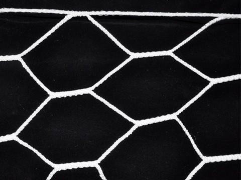 Сетка для футбольных ворот, форма ячейка 6-угольник, размер 6х8 см. :(104):