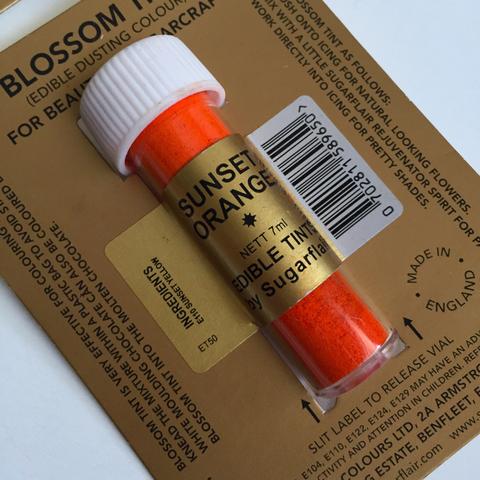 Краситель пищевой Цветочная пыльца Sugarflair Colours Оранжевый SUNSET ORANGE