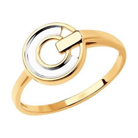 018778 - Кольцо из золота с родированием