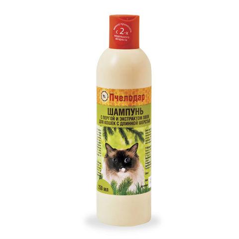 купить Пчелодар гигиенический шампунь с пергой и хвоей для длинношерстных кошек