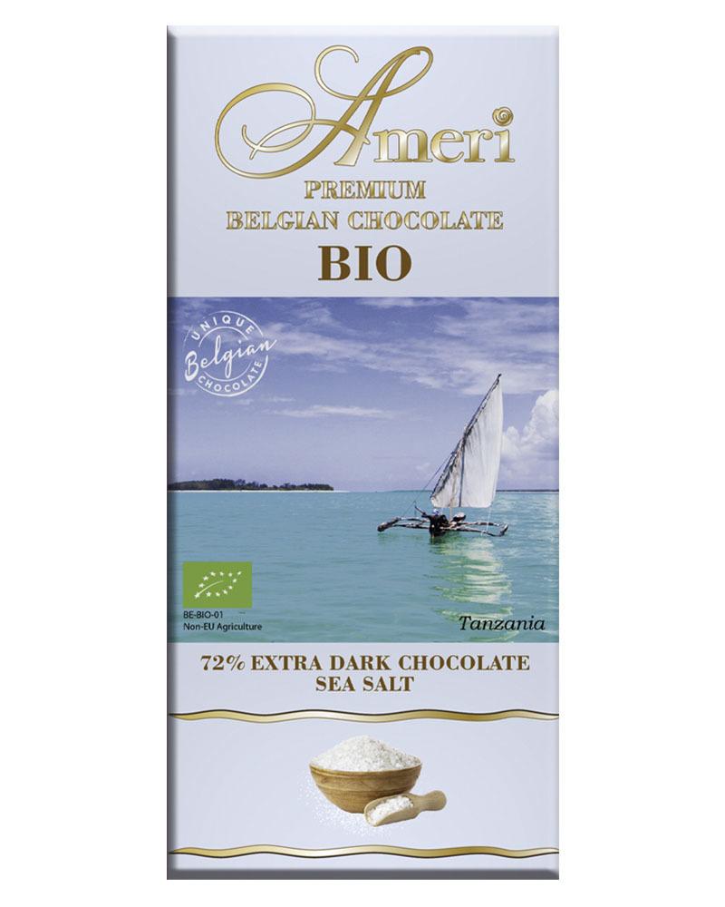 Экстра Горький Шоколад Ameri 72% Какао с Морской Солью БИО 100гр