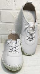 Белые женские кроссовки мокасины лето Rozen 115 All White.