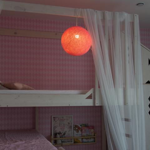 Хлопковый шар - подвес Розовый