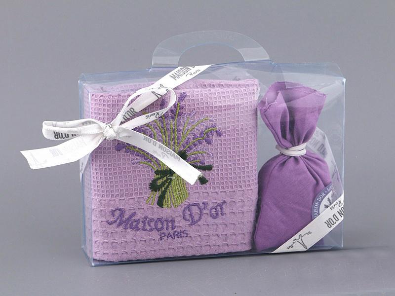 Кухонные полотенца Набор Полотенце  в коробке  LAVANTA - ЛАВАНТА  50х70 Maison Dor  Турция лаванта_сирень.jpg