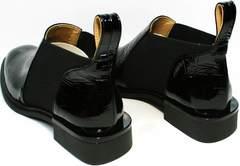 Туфли челси женские полуботинки без шнурков Ari Andano 721-2 Black Snake.